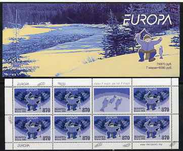 Booklet - Belarus 2004 Europa 6090r booklet (Fishing) complete and pristine