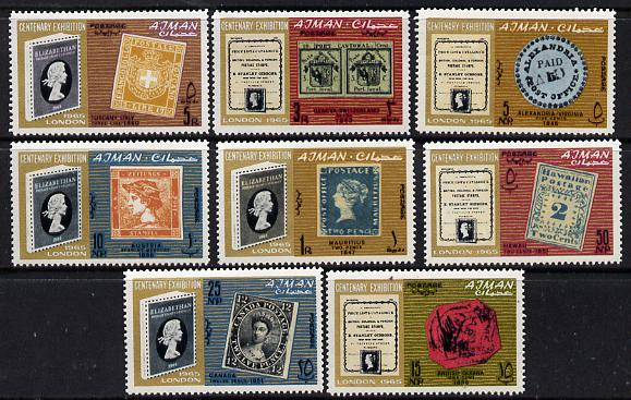 Ajman 1965 Stanley Gibbons Centenary perf set of 8 unmounted mint (Mi 45-52)