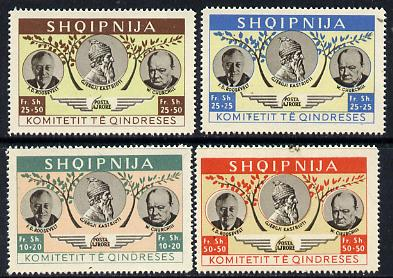 Albania 1949 Churchill & Roosevelt set of 4 values unmounted mint