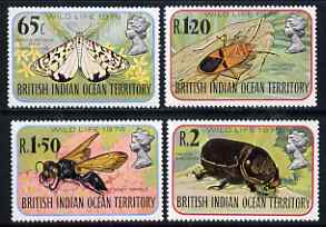 British Indian Ocean Territory 1976 Wildlife (4th series) Insects perf set of 4 unmounted mint, SG 86-89