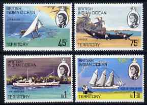 British Indian Ocean Territory 1969 Ships of the Islands perf set of 4 unmounted mint, SG 32-35
