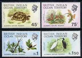 British Indian Ocean Territory 1971 Aldabra Nature Reserve perf set of 4 unmounted mint, SG 36-39