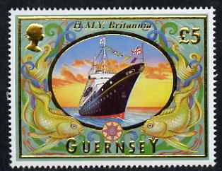 Guernsey 1998-2005 Maritime Heritage \A35 Royal Yacht Britannia unmounted mint, SG 803*
