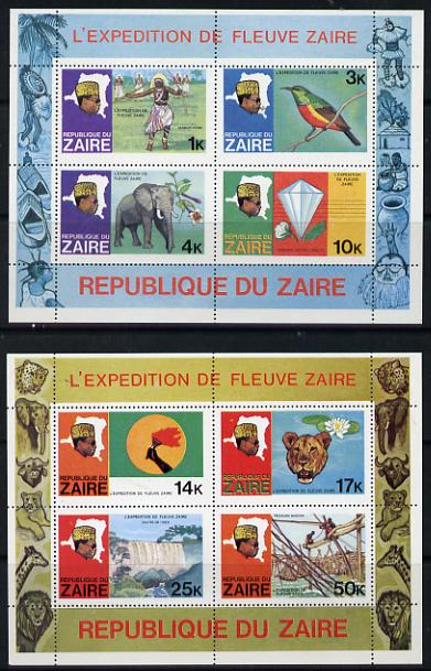 Zaire 1979 River Expedition the set of two m/sheets unmounted mint, SG MS 960, Mi BL 23 & 24