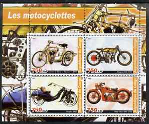 Congo 2003 Early Motorcycles #2 perf sheetlet containing set of 4 values unmounted mint