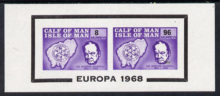 Calf of Man 1968 Europa opt on Churchill imperf m/sheet (8m & 96m violet) (Rosen CA110MS) very slight disturbance to gum otherwise unmounted mint