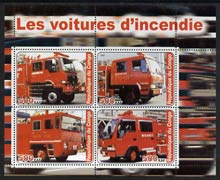 Congo 2003 Fire Engines #2 perf sheetlet containing set of 4 values unmounted mint