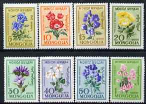 Mongolia 1960 Flowers perf set of 8 unmounted mint, SG 184-91