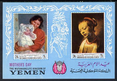 Yemen - Royalist 1968 Paintings (Mothers Day) imperf m/sheet unmounted mint, Mi BL72