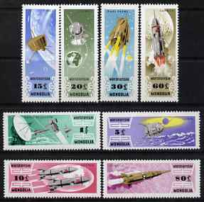Mongolia 1964 Space Research perf set of 8 unmounted mint, SG 346-53