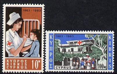 Cyprus 1963 Red Cross Centenary set of 2 unmounted mint, SG 232-33