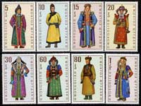 Mongolia 1969 Mongolian Costumes perf set of 8 unmounted mint, SG 515-22