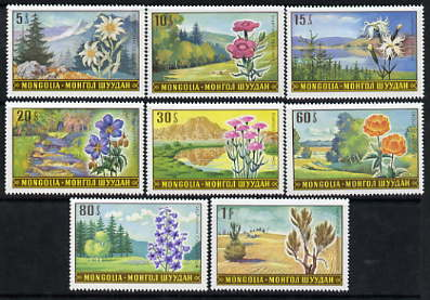 Mongolia 1969 Landscapes & Flowers perf set of 8 unmounted mint SG 525-32