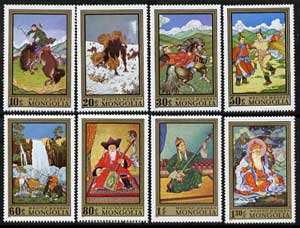 Mongolia 1972 Contemporary Paintings perf set of 8 unmounted mint, SG 651-58