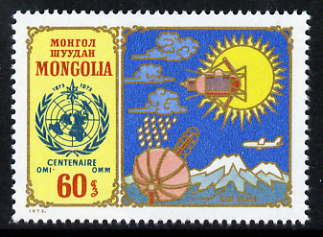 Mongolia 1973 Centenary of World Meteorological Organization unmounted mint, SG 748