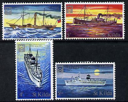 St Kilda 1971 Ships perf set of 4 unmounted mint