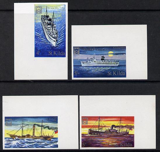 St Kilda 1971 Ships imperf set of 4 unmounted mint