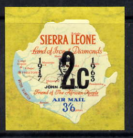 Sierra Leone 1964-66 Surcharged 4th issue 2c on 3s6d (Kennedy & Map) unmounted mint SG 357*
