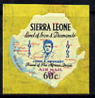 Sierra Leone 1964-66 Surcharged 2nd issue 60c on 9d (Kennedy & Map) unmounted mint SG 335