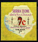 Sierra Leone 1964-66 Surcharged 2nd issue 7c on 7d (Kennedy & Map) unmounted mint SG 334
