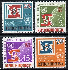 Indonesia 1969 International Labour Organisation set of 4, SG 1219-22 unmounted mint*