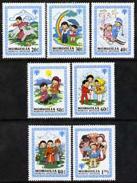 Mongolia 1980 Nursery Tales perf set of 7 unmounted mint, SG 1326-32