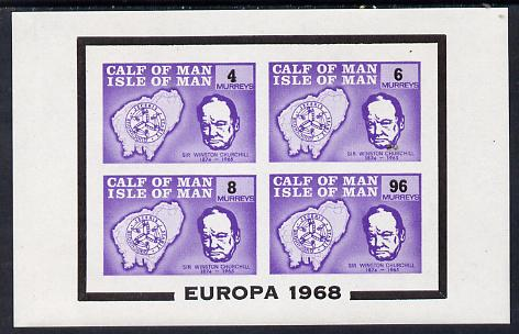 Calf of Man 1968 Europa opt on Churchill imperf m/sheet (4, 6, 8 & 96m violet) (Rosen CA116MS) unmounted mint