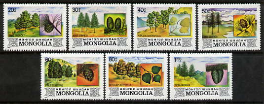 Mongolia 1982 Trees perf set of 7 unmounted mint, SG 1461-67