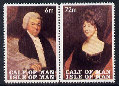 Calf of Man 1968 Paintings from Manx Museum #2 perf set of 2 unmounted mint (Rosen CA117-18)