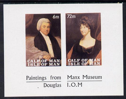 Calf of Man 1968 Paintings from Manx Museum #2 imperf sheetlet of 2 unmounted mint (Rosen CA119MS)