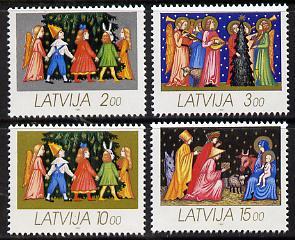 Latvia 1992 Christmas set of 4 unmounted mint, SG 363-66*