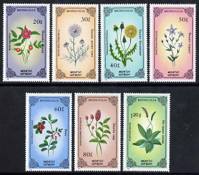 Mongolia 1985 Plants perf set of 7 unmounted mint, SG 1689-95