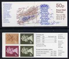 Booklet - Great Britain 1987-88 MCC Bicentenary #4 (England Team Badge) 50p booklet complete, SG FB42
