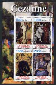 Somalia 2002 Cezanne Paintings perf sheetlet containing 4 values, fine cto used