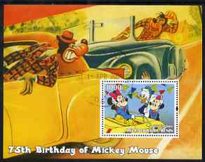 Benin 2004 75th Birthday of Mickey Mouse - Minnie in a Car perf m/sheet fine cto used