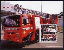 Ivory Coast 2004 Fire Engines #2 perf m/sheet, fine cto used