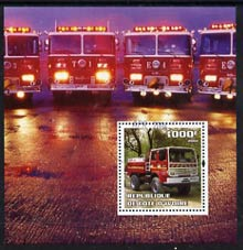 Ivory Coast 2004 Fire Engines #4 perf m/sheet, fine cto used