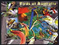 Kyrgyzstan 2004 Fauna of the World - Birds of Australia perf sheetlet containing 6 values cto used