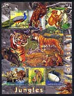 Kyrgyzstan 2004 Fauna of the World - Jungles of Asia #2 perf sheetlet containing 6 values cto used
