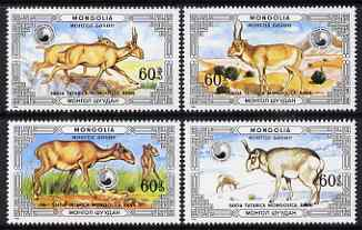 Mongolia 1986 Saiga Antelope perf set of 4 values unmounted mint, SG1800-1803