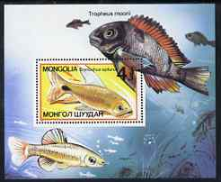 Mongolia 1987 Aquarium Fishes perf m/sheet unmounted mint, SG MS1815