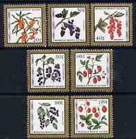 Mongolia 1987 Fruits perf set of 7 values unmounted mint, SG 1849-55