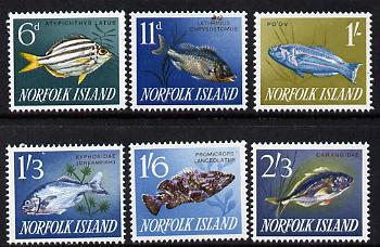 Norfolk Island 1962 Fishes set of 6 unmounted mint SG 43-48