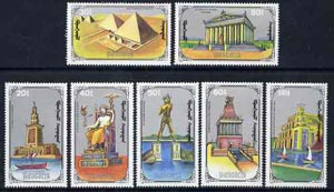 Mongolia 1990 Seven Wonders of the World perf set of 7 values unmounted mint SG 2146-52