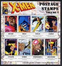 Mongolia 1995 X-Men (comic strip) perf sheetlet containing set of 8 values unmounted mint, SG 2511a