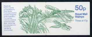 Booklet - Great Britain 1986-87 Pond Life #1 (Dragonfly) 50p booklet complete, SG FB32