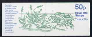 Booklet - Great Britain 1986-87 Pond Life #2 (Common Frog) 50p booklet complete, SG FB33