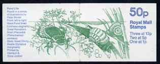 Booklet - Great Britain 1986-87 Pond Life #4 (Snails & Beetles) 50p booklet complete, SG FB36