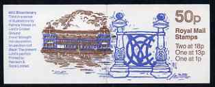 Booklet - Great Britain 1987-88 MCC Bicentenary #3 (Lords Pavilion & Wrought Iron) 50p booklet complete, SG FB41