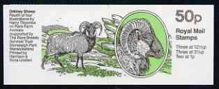 Booklet - Great Britain 1982-83 Rare Farm Animals #4 (Orkney Sheep) 50p booklet complete, SG FB26
